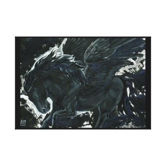 Mörka Pegasus Canvastryck