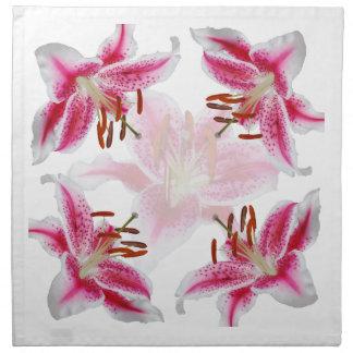 Mörka rosa servetter för dagdrömmareliljatrasa