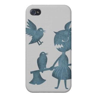 Mörka sagayxaflicka och kråkor iPhone 4 fodral