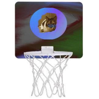 Mörkfärgabstrakt med avbildar mallen Mini-Basketkorg