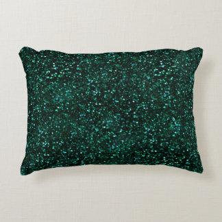 Mörkt glitter för turkosblåttgrönt prydnadskudde