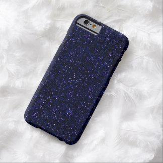 Mörkt midnatt indigoblått blåttglitter barely there iPhone 6 fodral