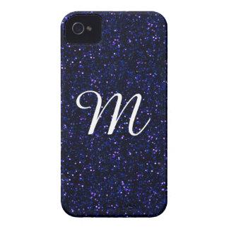 Mörkt midnatt indigoblått blåttglitter iPhone 4 skal