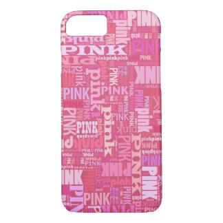 Mörkt rosa textmönster för rosa älskare