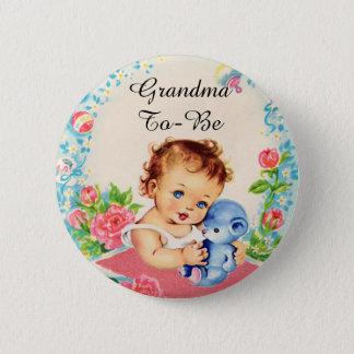 Mormodern som är vintagebaby shower, knäppas standard knapp rund 5.7 cm