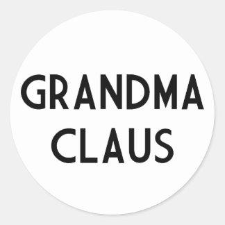 Mormor Claus Runt Klistermärke