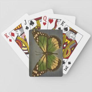 Mormor fjäril som leker kort spel kort