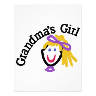 Mormor flicka brevhuvud