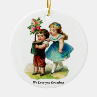 mormor gåvor julgransprydnad keramik