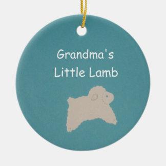 Mormor lite Lamb Julgransprydnad Keramik