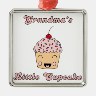 Mormor lite muffin julgransprydnad metall