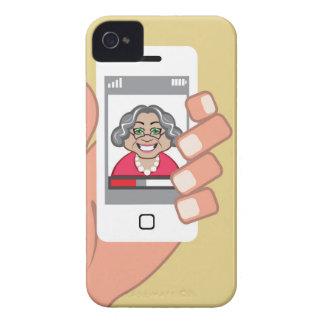 Mormor på telefonen iPhone 4 skal