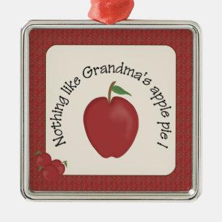 Mormor prydnad för silver för Apple paj Julgransprydnad Metall