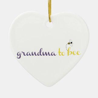 Mormor till biet julgransprydnad keramik
