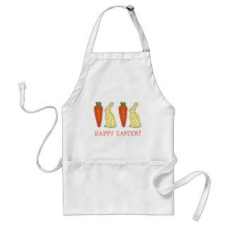 Morot för kanin för kanin för glad påskvitchoklad förkläde