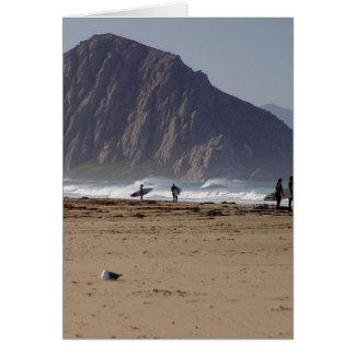 Morro sten sätter på land surfarear hälsningskort