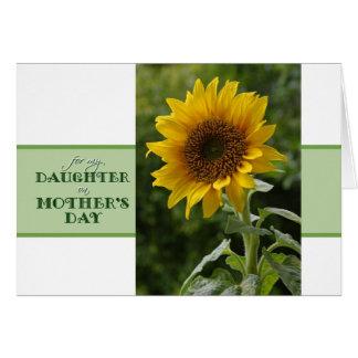 Mors dag för superb solroskort för dotter hälsningskort