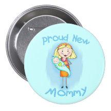 Mors dag/ny mamma knappar med nål