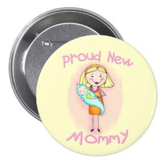 Mors dag/ny mamma mellanstor knapp rund 7.6 cm