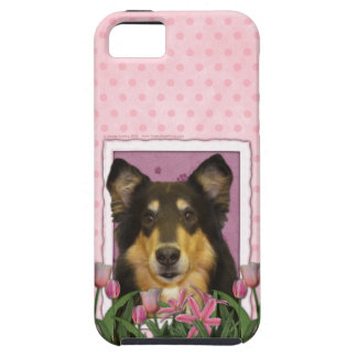 Mors dag - rosa tulpan - Collie - Caroline iPhone 5 Case-Mate Fodraler