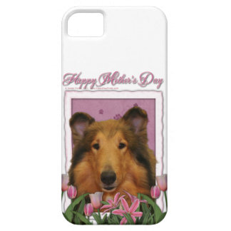 Mors dag - rosa tulpan - Collie - Natalie iPhone 5 Case-Mate Skydd