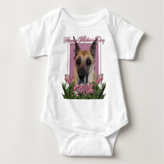 Mors dag - rosa tulpan - great dane t shirt