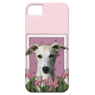 Mors dag - rosa tulpan - Whippet iPhone 5 Cover
