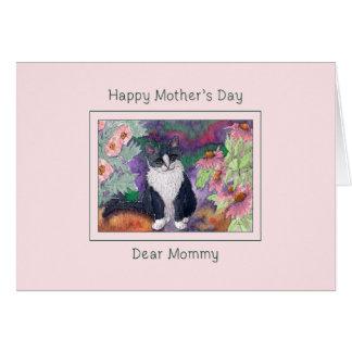 Mors dagkort, kattmors dagkort hälsningskort