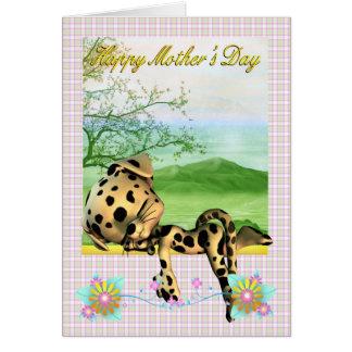 Mors dagkort, med den lite Dalmatian hunden Hälsningskort