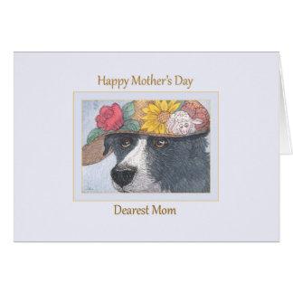 Mors dagkort - Sheepdog i en hatt Hälsningskort