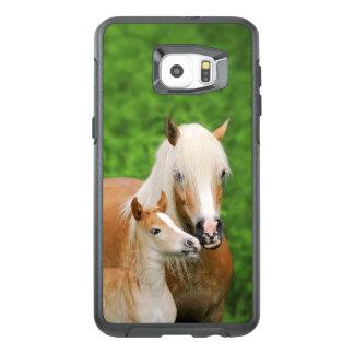 Morsa för kyss för föl för Haflinger hästar gullig OtterBox Samsung Galaxy S6 Edge Plus Skal