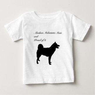 Morsa för Malamute för hundSilhouette alaskabo T-shirt