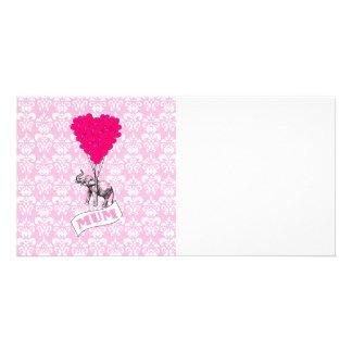 Morsa med den rosa elefanten fotokort