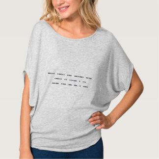 Morsealfabet: Svartlivmateria. Bella cirklar T Shirt
