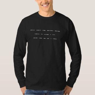 Morsealfabet: Svartlivmateria. (mörkfärger) T Shirt