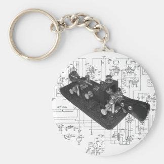 Morsealfabetet radiosände nyckel- schematiskt rund nyckelring