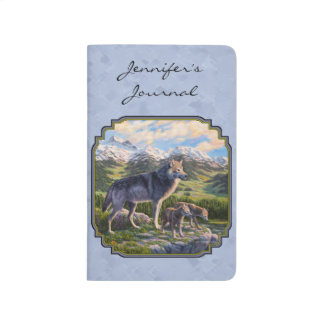 Morvarg- och valphimmelblått anteckningsbok