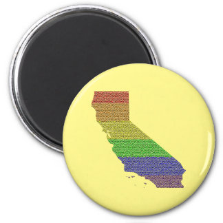 Mosaik för flagga för Kalifornien regnbågepride Magnet