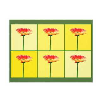Mosaik för orange- och gultGerberadaisy Canvastryck