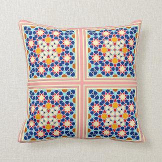Mosaiken belägger med tegel dekorativ kudde