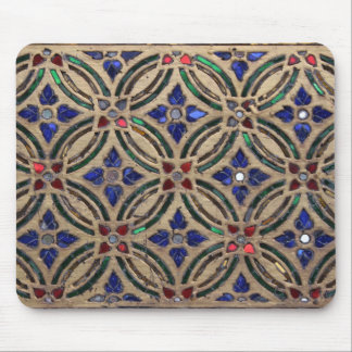 Mosaiken belägger med tegel det glass marockanska  musmatta