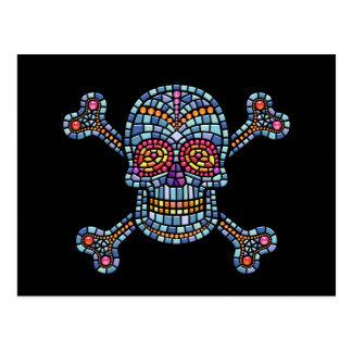 Mosaiken belägger med tegel piraten vykort