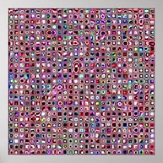 """Mosaiken """"för Bijoux"""" för rubyen belägger med tege Poster"""