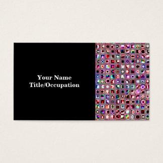"""Mosaiken """"för Bijoux"""" för rubyen belägger med Visitkort"""
