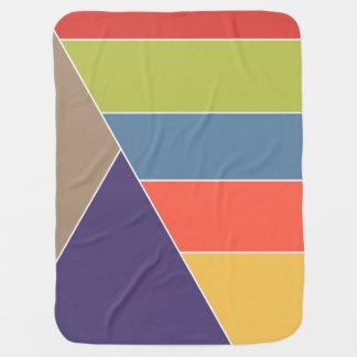 MOSAIKEN görar randig trianglar färgat I + dina Bebisfilt