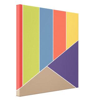 MOSAIKEN görar randig trianglar färgat I + dina Canvastryck