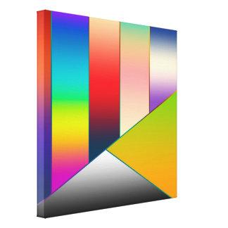 MOSAIKEN görar randig trianglar som färgas II + Canvastryck