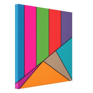 MOSAIKEN görar randig trianglar som färgas III + Canvastryck