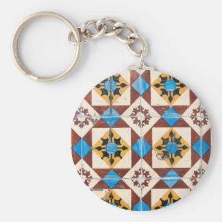 mosaiklisbon dekoration portugal belägger med rund nyckelring