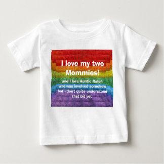 Mosaisk gay prideflagga för regnbåge tee shirt
